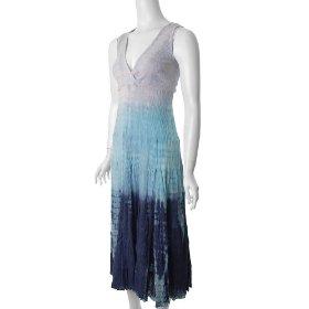 Cute Options Sleeveless Tie-dye Maxi Summer Dress