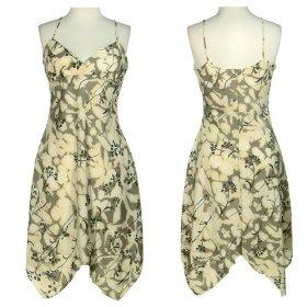 LA BELLE Flower Print Surplice Women's Summer Dress